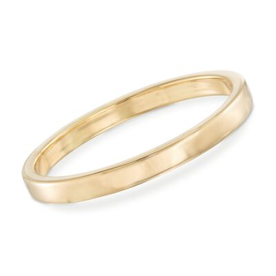 Italian Andiamo 14kt Yellow Gold Squared-Edge Bangle Bracelet, , default