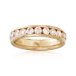 C. 2000 Vintage 1.00 ct. t.w. Diamond Ring in 18kt Yellow Gold. Size 7, , default