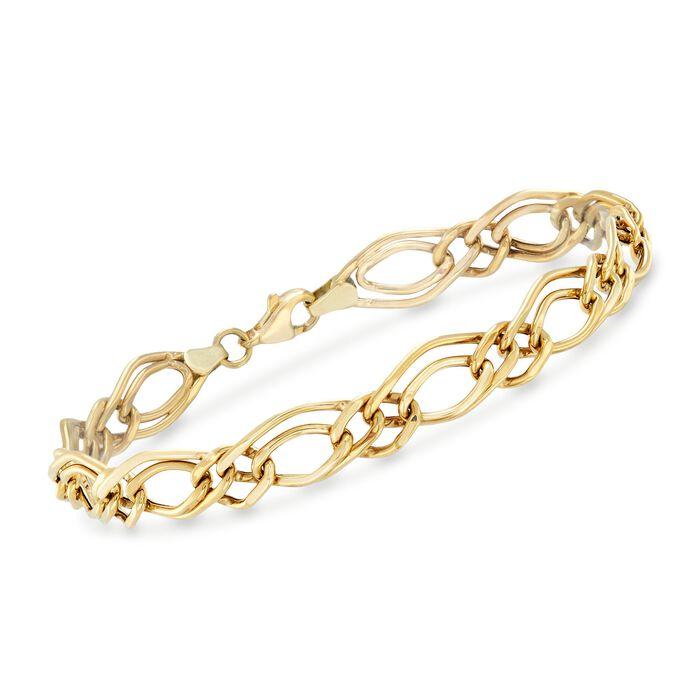 14kt Yellow Gold Double-Oval Link Bracelet