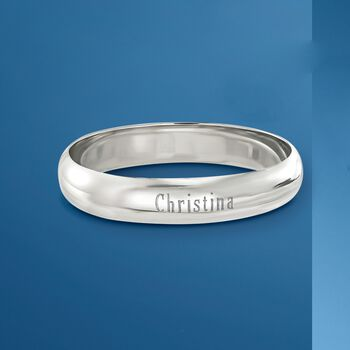 Sterling Silver Personalized Bangle Bracelet
