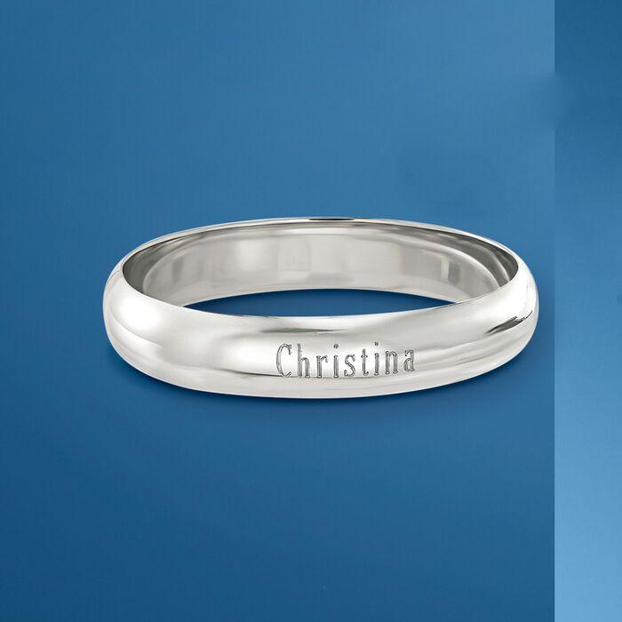 Sterling Silver Personalized Bangle Bracelet