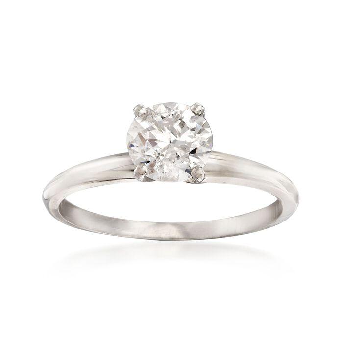 1.00 Carat Diamond Solitaire Ring in Platinum