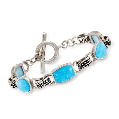 Turquoise Bracelet in Sterling Silver