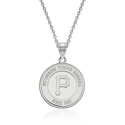 Sterling Silver MLB Pittsburgh Pirates Pendant Necklace. 18""