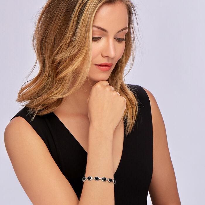 Black Onyx Bracelet in Sterling Silver