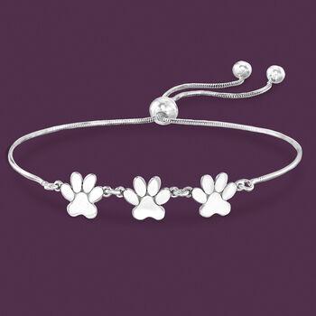 Sterling Silver Tiny Paws Bolo Bracelet