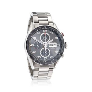 TAG Heuer Carrera Men's 43mm Chronograph Stainless Steel Watch #CARS2L