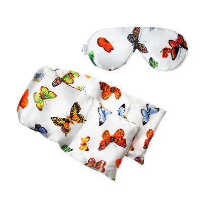 Butterfly Silk Hot/Cold Pack and Eye Mask Set, , default