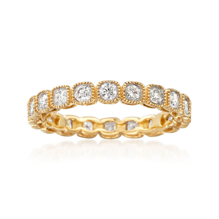 1.00 ct. t.w. Diamond Eternity Band in 14kt Yellow Gold, , default
