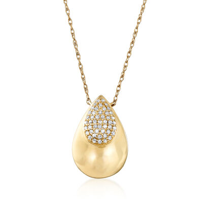.10 ct. t.w. Diamond Pear-Shaped Cluster Necklace in 14kt Yellow Gold