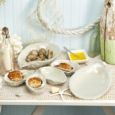 """Set of 3 """"World is Your Oyster"""" Serving Dishes, , default"""