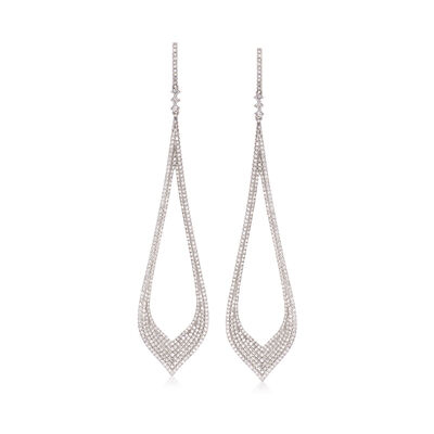 2.10 ct. t.w. Diamond Teardrop Earrings in 14kt White Gold, , default