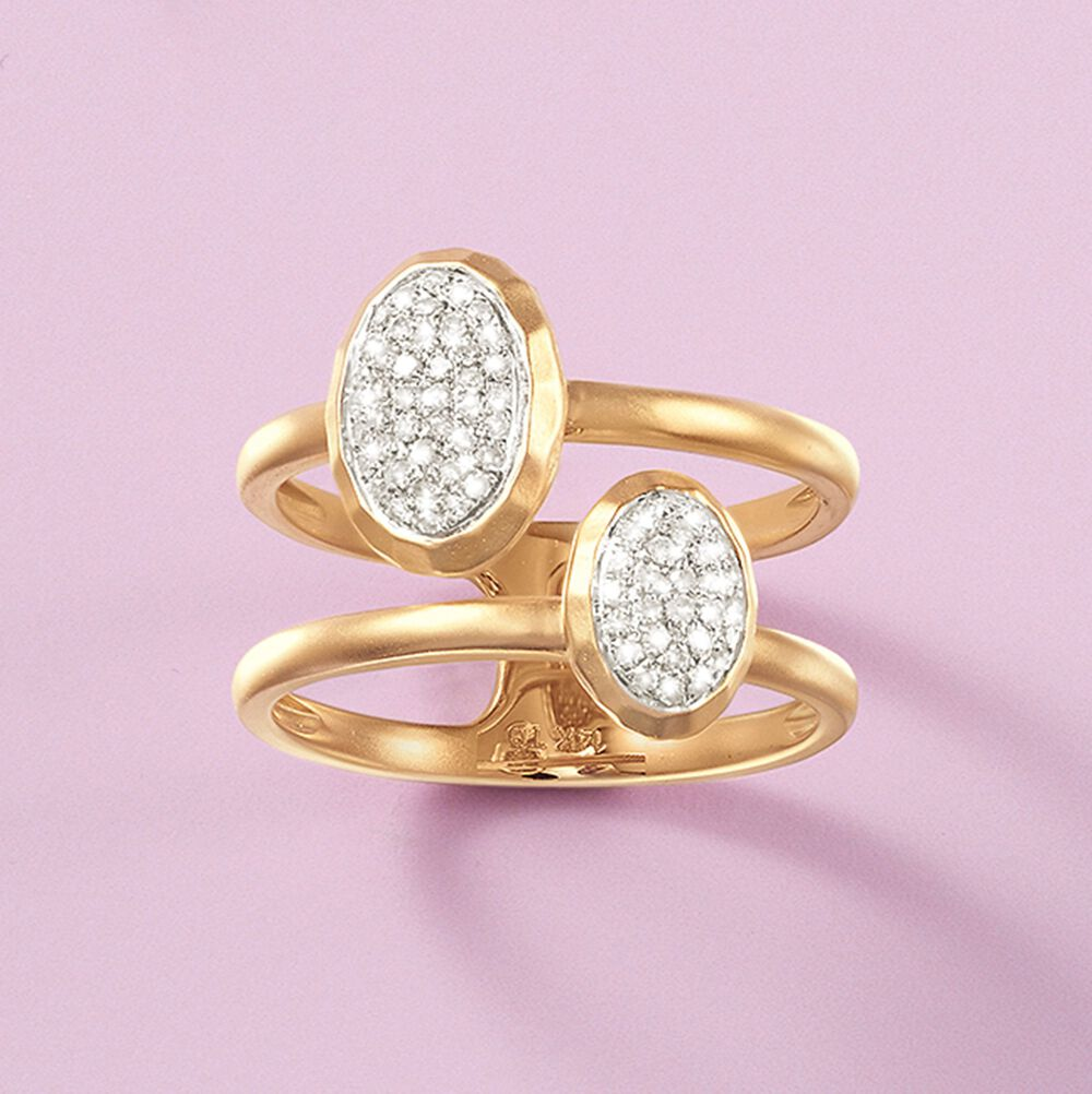 23 ct. t.w. Double Bezel-Set Diamond Ring in 14kt Yellow Gold | Ross ...