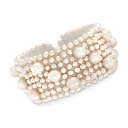4-8.5mm Cultured Pearl Cuff-Style Bracelet , , default