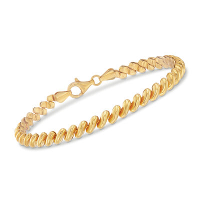 Italian 18kt Yellow Gold Over Sterling Silver San Marco Bracelet