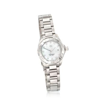 TAG Heuer Aquaracer Women's 27mm Stainless Steel Watch With Diamond Accents , , default