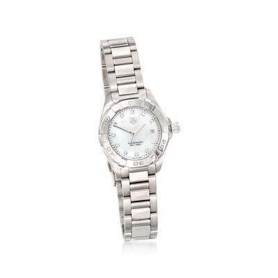 TAG Heuer Aquaracer Women's 27mm Stainless Steel Watch with Diamond Accents, , default