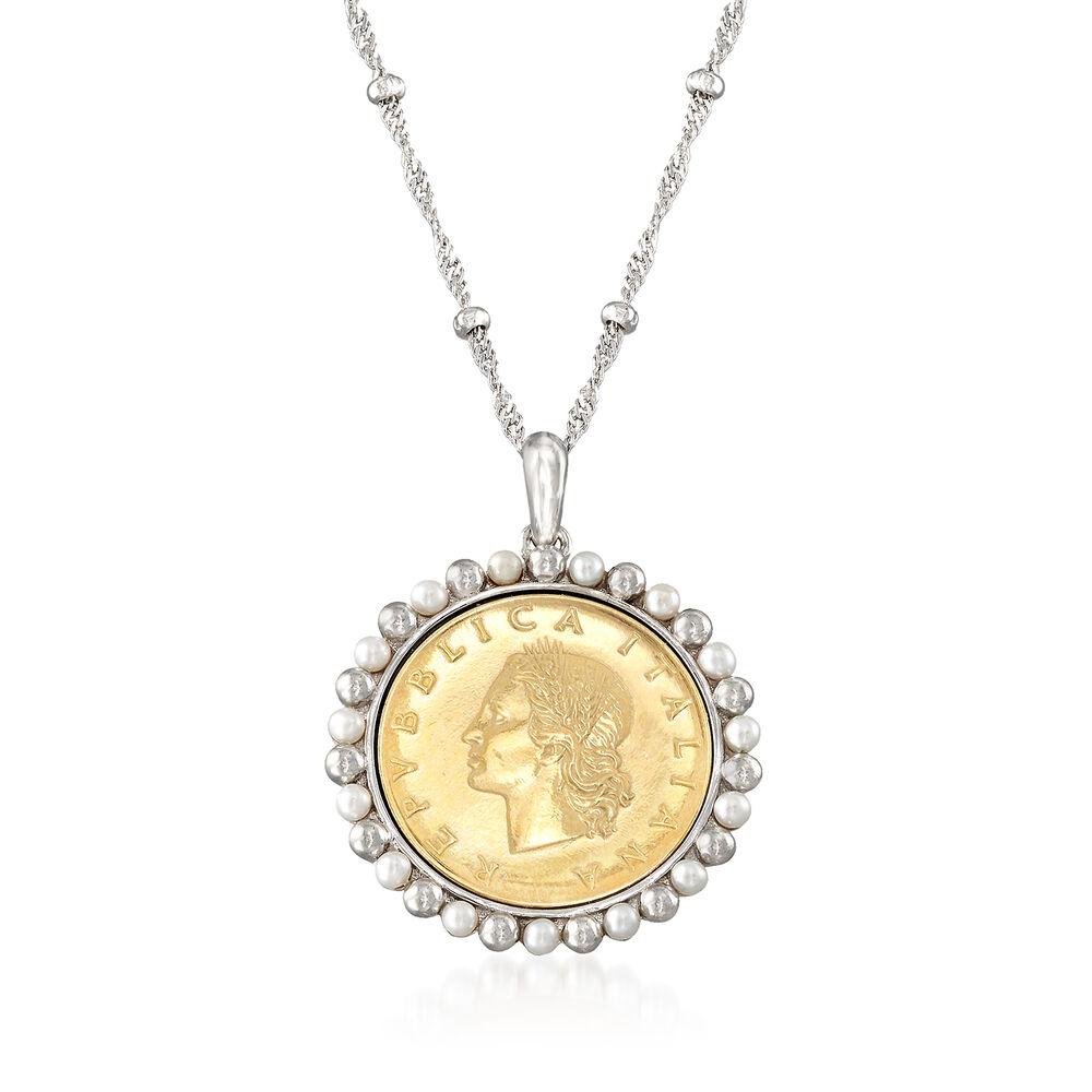 Lira Coin Pendant Necklace