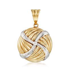 Pinwheel Pendant in 14kt Yellow Gold, , default