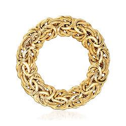 14kt Yellow Gold Byzantine Circle Pin, , default