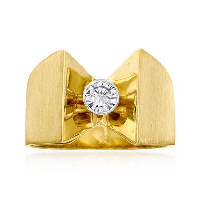 C. 1970 Vintage .30 Carat Diamond Ring in 14kt Yellow Gold
