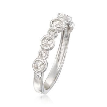 .50 ct. t.w. Bezel-Set Diamond Ring in 14kt White Gold, , default