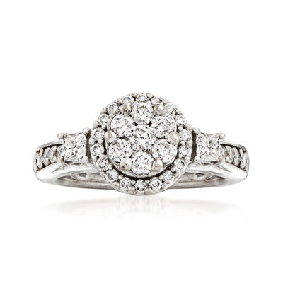 C. 1990 Vintage .75 ct. t.w. Diamond Ring in 10kt White Gold