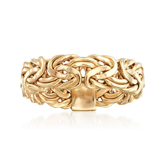 14kt Yellow Gold Byzantine Ring, , default