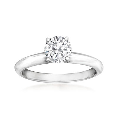 .71 Carat Certified Diamond Solitaire Ring in 14kt White Gold