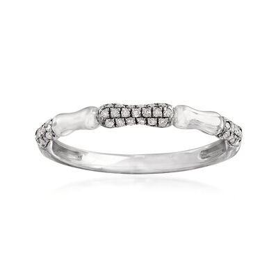 .15 ct. t.w. Pave Diamond Ring in 14kt White Gold