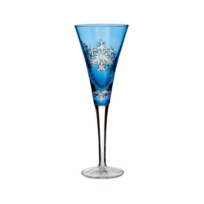 """Waterford Crystal 2013 Annual """"Snowflake Wishes for Goodwill"""" Kerry Light Blue Prestige Flute, , default"""