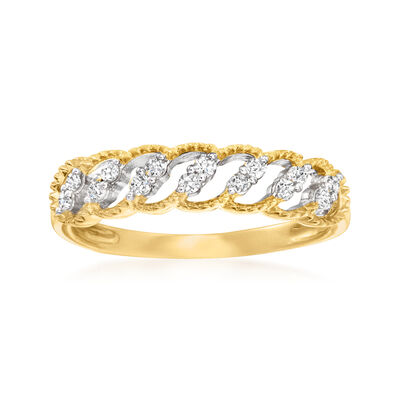 .15 ct. t.w. Diamond Marquise Ring in 14kt Yellow Gold