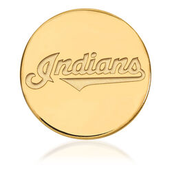 14kt Yellow Gold MLB Cleveland Indians Lapel Pin, , default