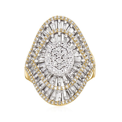 C. 1990 Vintage 1.00 ct. t.w. Diamond Ring in 10kt Yellow Gold