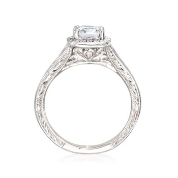 Gabriel Designs .67 ct. t.w. Diamond Engagement Ring Setting in 14kt White Gold, , default
