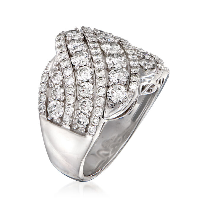 4.00 ct. t.w. Diamond Scalloped Ring in 14kt White Gold