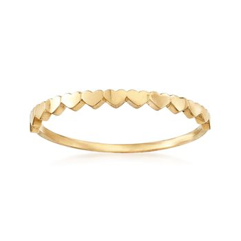 18kt Yellow Gold Multi-Heart Ring, , default