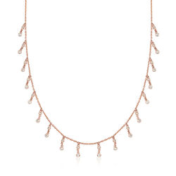 .89 ct. t.w. Diamond Drop Necklace in 14kt Rose Gold, , default