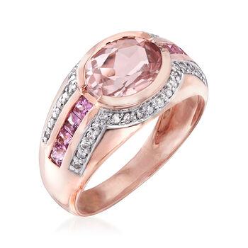 2.60 ct. t.w. Multi-Gemstone Ring in 14kt Rose Gold