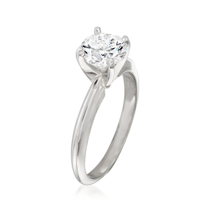 1.24 Carat Certified Diamond Solitaire Ring in 14kt White Gold