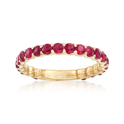 1.20 ct. t.w. Ruby Ring in 14kt Yellow Gold, , default