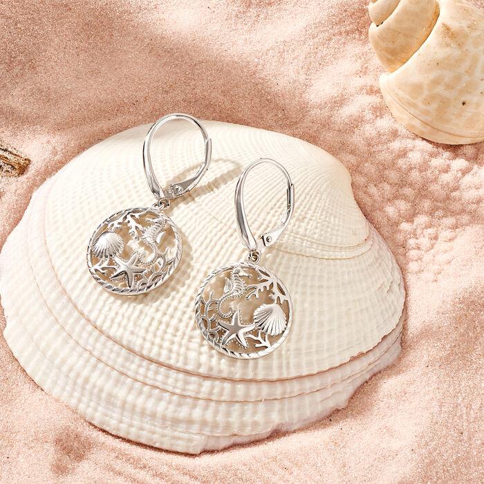 Sterling Silver Sea Life Drop Earrings