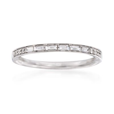 Simon G. .31 ct. t.w. Diamond Wedding Ring in 18kt White Gold