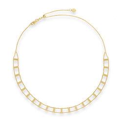 14kt Yellow Gold Railroad Choker Necklace, , default
