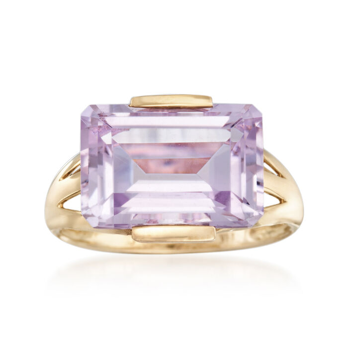 7.25 Carat Amethyst Ring in 14kt Yellow Gold, , default