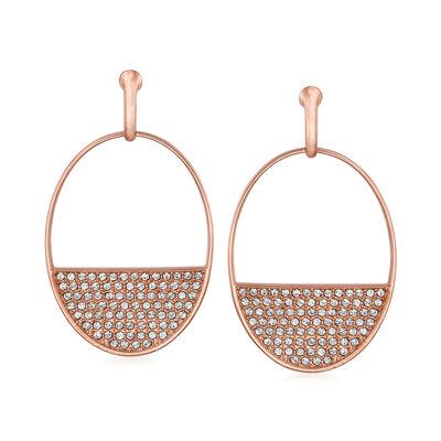 "Swarovski Crystal ""Ginger"" Crystal Drop Earrings in Rose Gold Plate"