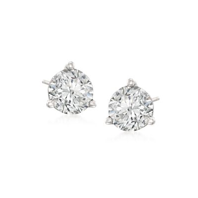 1.00 ct. t.w.Diamond Martini Stud Earrings in Platinum , , default