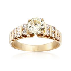 C. 1990 Vintage 1.51 ct. t.w. Diamond Ring in 14kt Yellow Gold. Size 5.5, , default