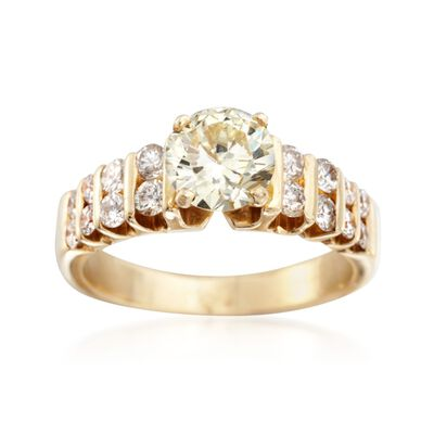C. 1990 Vintage 1.51 ct. t.w. Diamond Ring in 14kt Yellow Gold, , default