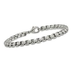 """Men's Stainless Steel Fancy Box-Link Bracelet. 8.25"""", , default"""